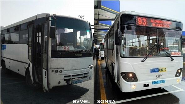 Bakıda bu avtobuslar yeniləndi