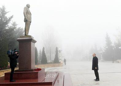 Ilham Aliyev is on a visit to Shamakhi -