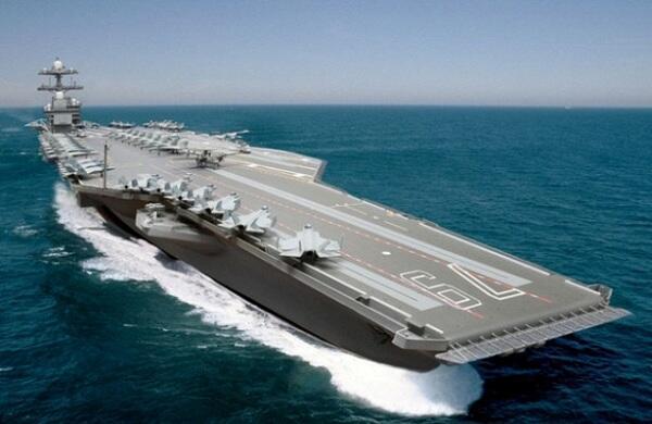 "Авианосец ""Джон Кеннеди"" официально спущен на воду"