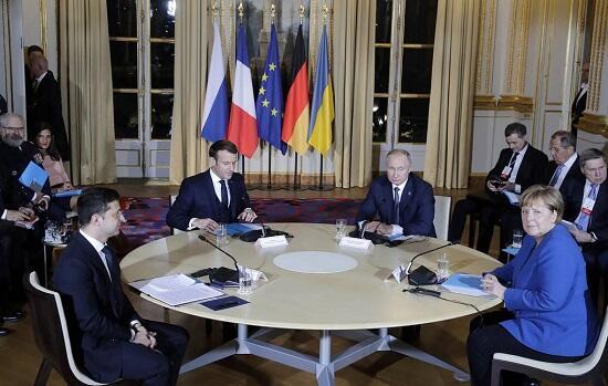 Началась встреча Путина, Зеленского, Меркель и Макрона