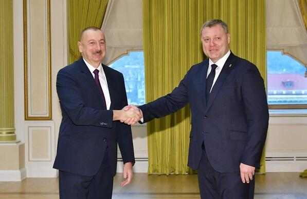 Ilham Aliyev met with the Russian governor