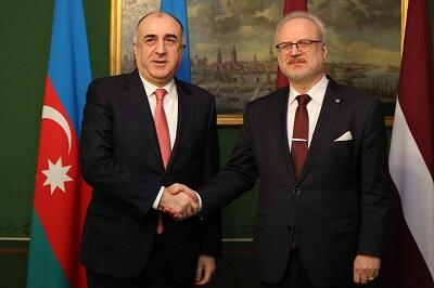 Elmar Mammadyarov meets the Latvian President  -