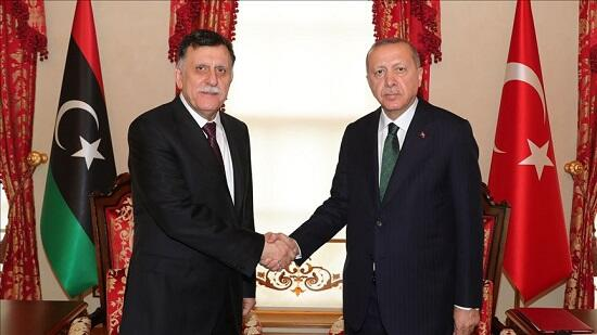 Erdogan meets with Libyan PM