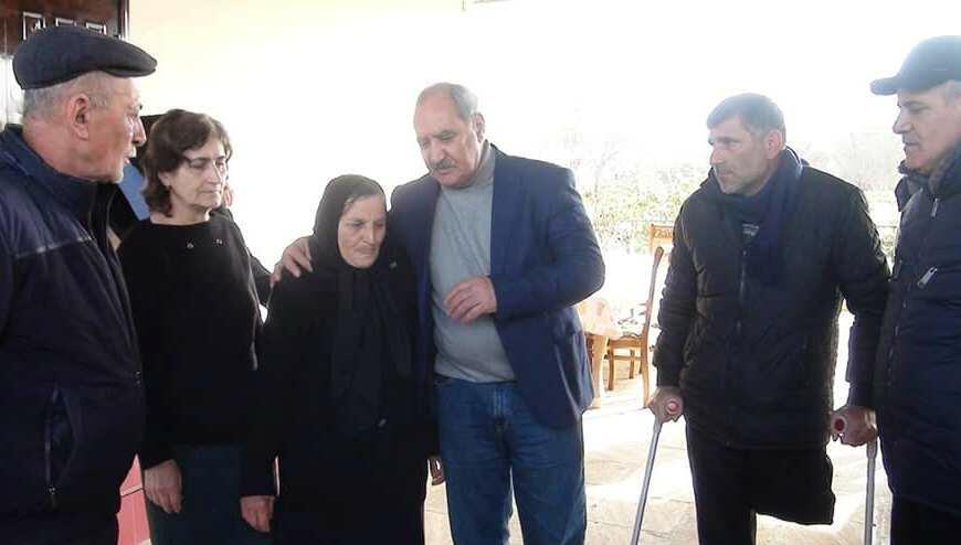 Fəzail Ağamalı Qaraşaqlı kəndində... - Foto