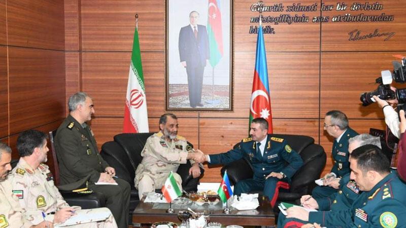 Generallar İran-Azərbaycan sərhədində - Foto