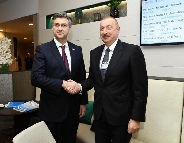 Ilham Aliyev met with the Prime Minister of Croatia