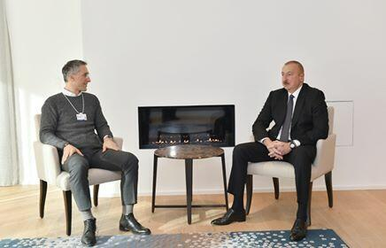 Ilham Aliyev met with the director of the famous company