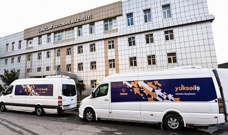 """""""Yüksəliş""""in səyyar avtobusları yola düşdü - Foto"""