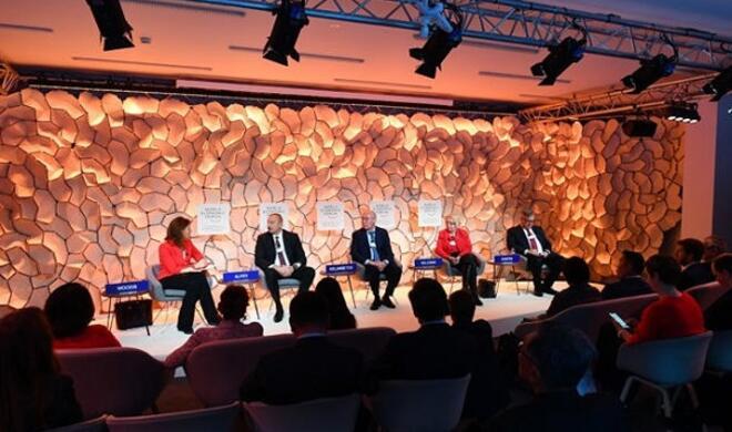 Ильхам Алиев принял участие в панели Давосского форума