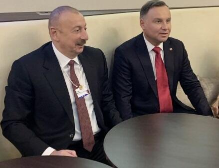 Ильхам Алиев и Анджей Дуда провели встречу в Давосе
