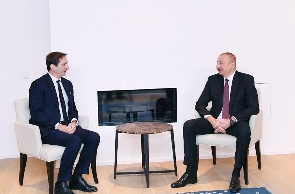 Ильхам Алиев встретился в Давосе с Бертраном Камю