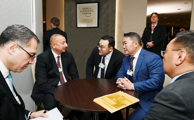 Ilham Aliyev met with the Mongolian leader