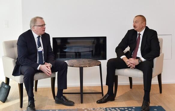 İlham Əliyev Davosda Saerte ilə görüşdü