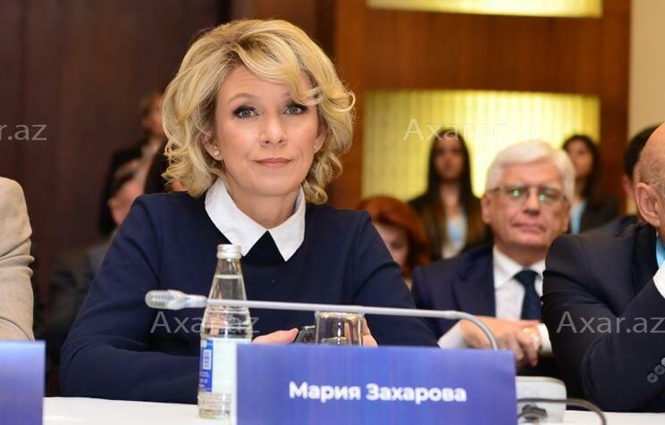 Mariya Zaxarova Bakıda - Foto