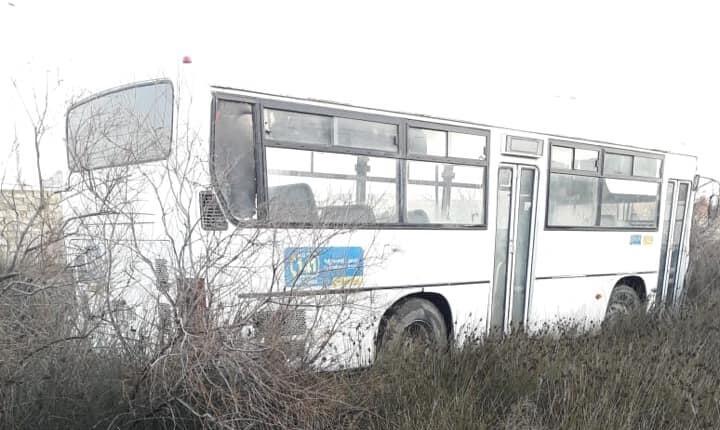 Bakıda avtobus qəzası: yaralılar var - Foto