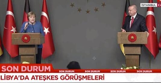 Ərdoğan sual verdi, Merkel çıxışına düzəliş etdi