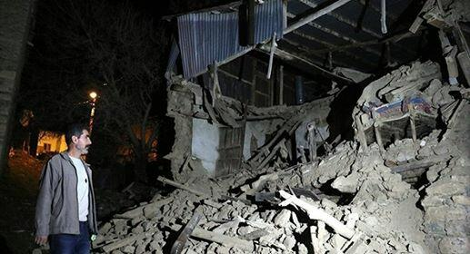 A fire broke out in Elazig after earthquake rocks -