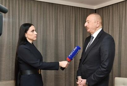 Ilham Aliyev gave an interview to the Russian TV channel