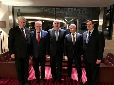 Azerbaijani FM and OSCE Co-Chairs meeting start
