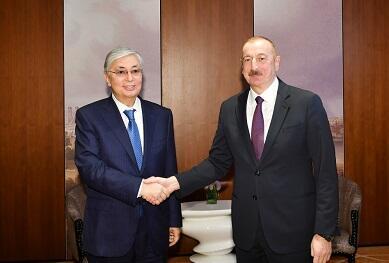 Ilham Aliyev called Tokayev