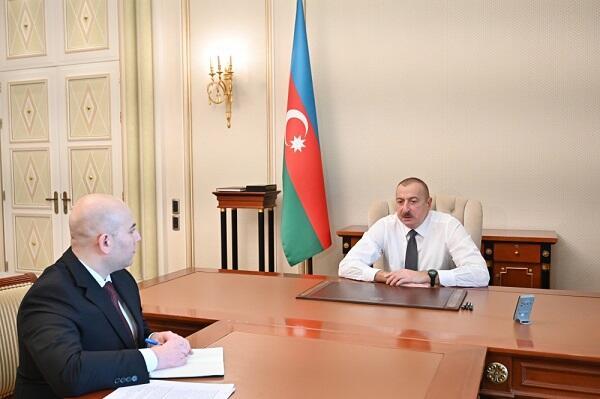 Ilham Aliyev received Vusal Kerimli -
