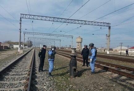Xızıda dəmir yolu stansiyasında partladıcılar tapıldı