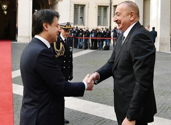 Ильхам Алиев встретился с Джузеппе Конте