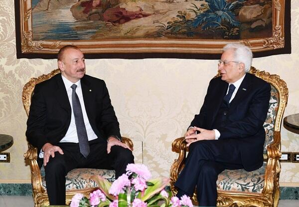 Ильхам Алиев встретился с Серджо Маттарелла