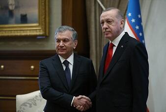 Ərdoğan türk ölkəsinin lideri ilə bir arada