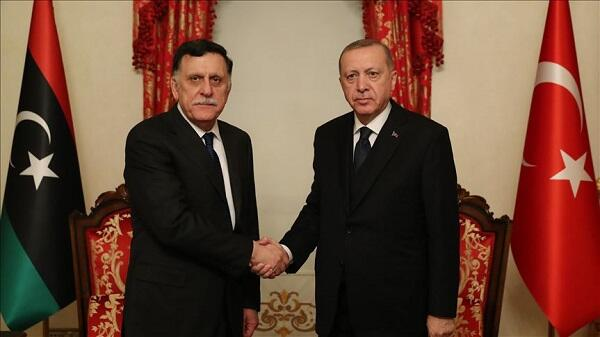 Erdogan met with Fayez Sarraj
