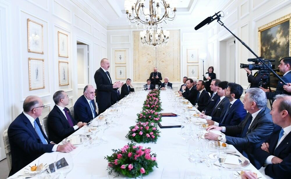Ilham Aliyev had a dinner with the company executives