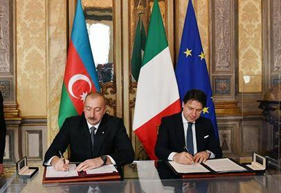 Azerbaijani-Italian documents were exchanged