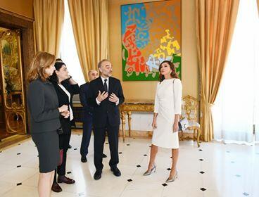 Мехрибан Алиева ознакомилась с Квиринальским дворцом