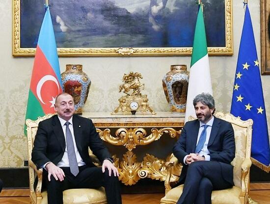 Ильхам Алиев встретился с Роберто Фико