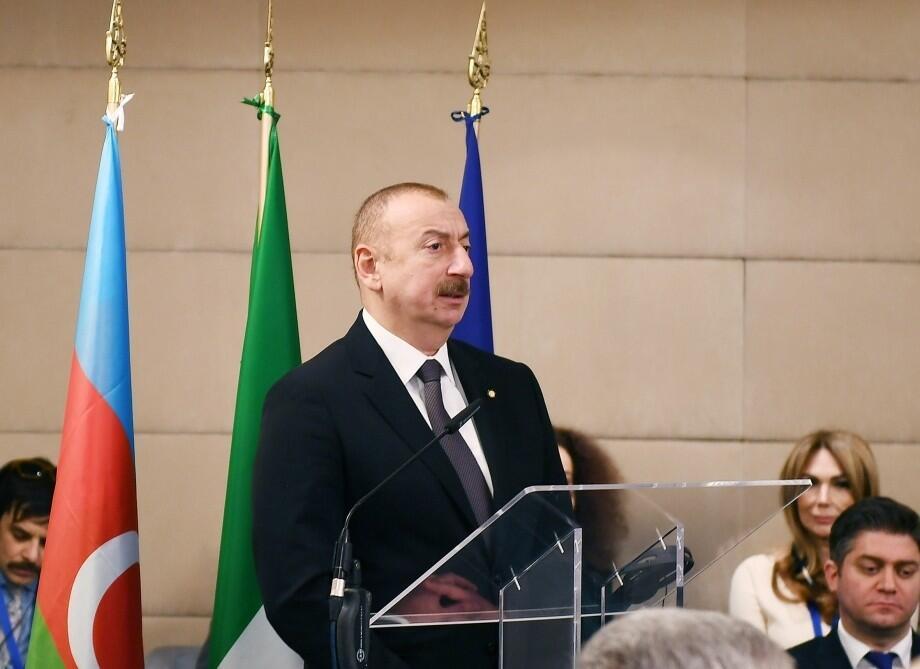 İlham Əliyevin çıxışı İtaliya mediasının gündəmində