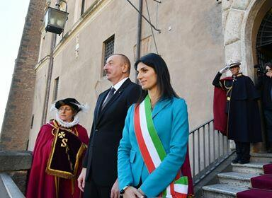 Ilham Aliyev met with the mayor of Rome