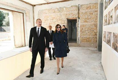 Ilham Aliyev and his wife inspected the building in Rome