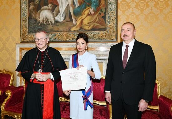 Mehriban Aliyeva was awarded the Order of the Knight -