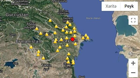 Earthquake hits in Shamakhi