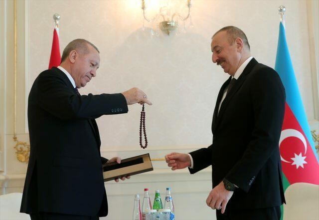 Ilham Aliyev`s special gift for Erdogan  -