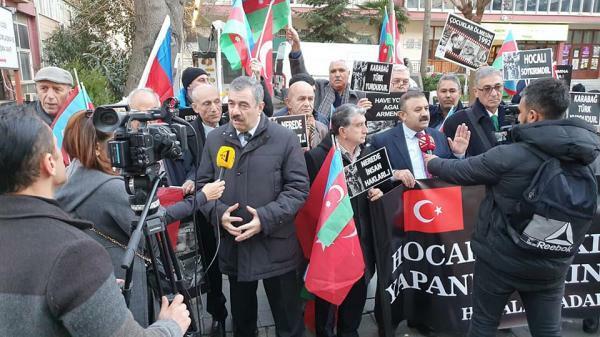 İstanbulda Xocalı yürüşü keçirildi - Foto