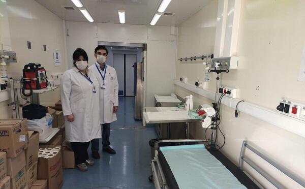 İranla sərhəddə mobil səyyar hospital xidmətə başladı