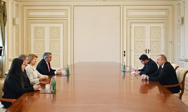 İlham Əliyev Boris Consonun ticarət elçisi ilə görüşdü