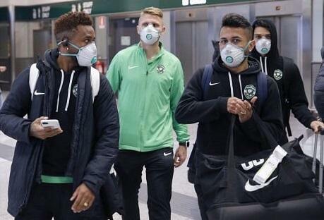 """Futbolçular """"İnter""""lə oyuna maska ilə getdi - Foto"""