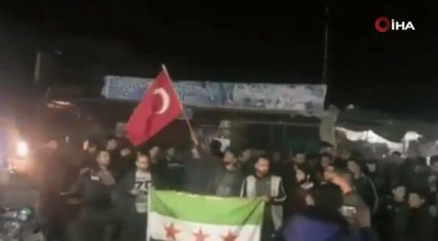 People took to the streets for Turkey in Aleppo