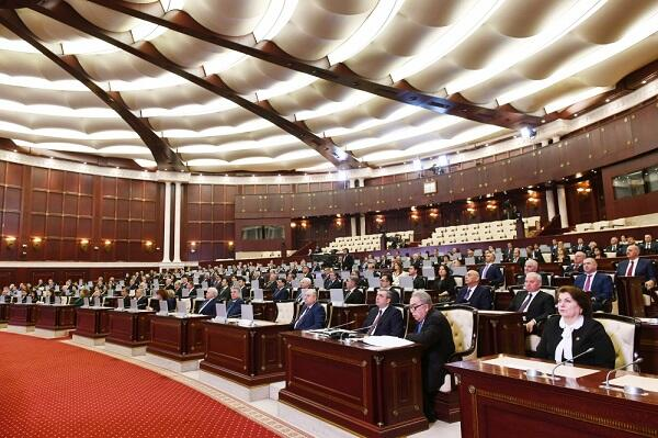 The session of the Milli Majlis began