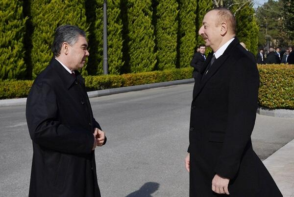 The Presidents of Azerbaijan and Turkmenistan met