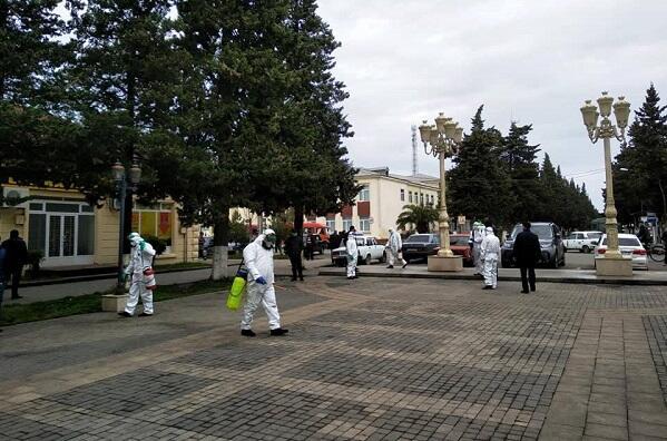 Zaqatala bazarı dezinfeksiya edildi