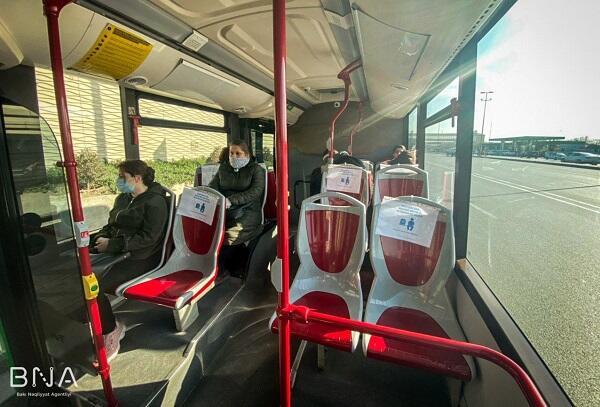 """""""Bakı Bus""""larda yeni rejim tətbiq edildi - Foto"""