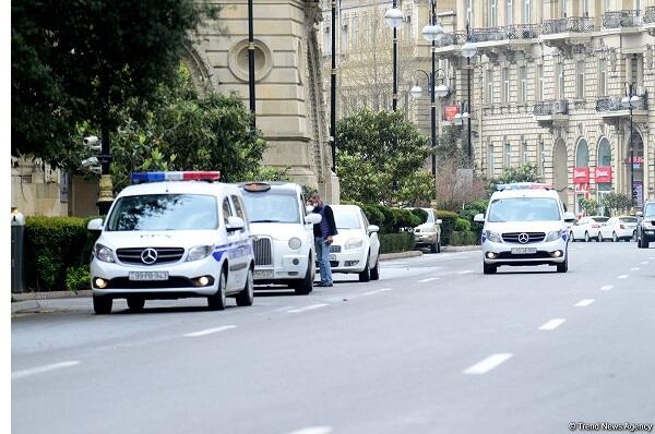 Main streets of Baku in quarantine regime -